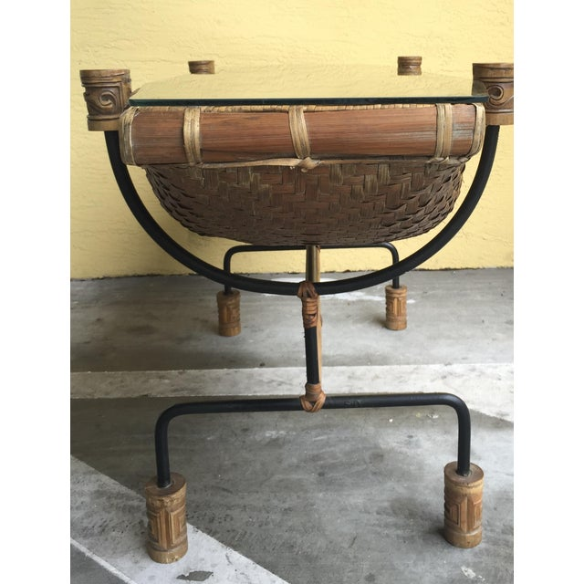 Vintage Pacific Style Rattan Console - Image 6 of 11