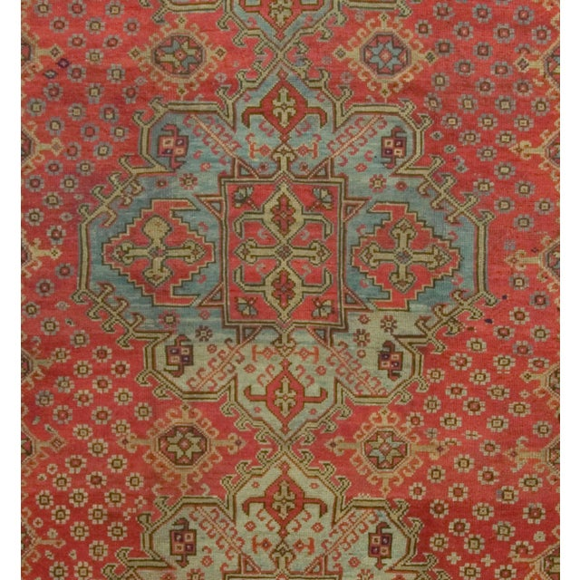 Antique Turkish Red Oushak Rug, 8'4 X 11' For Sale - Image 4 of 6