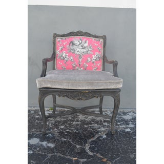 French Provincial Hot Pink Arm Chair Preview