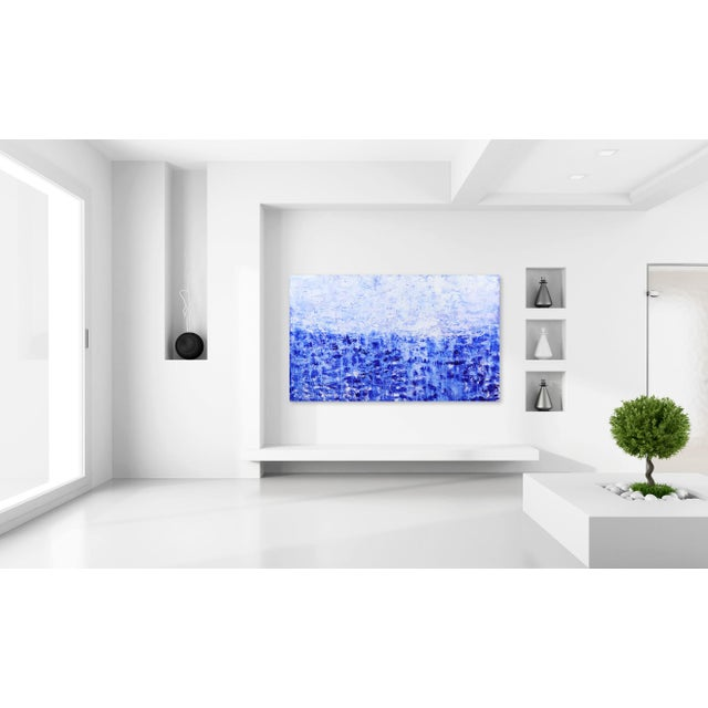 Blue ''Oceanic Escape'' Contemporary Abstract Acrylic Painting by Clara Berta For Sale - Image 8 of 9
