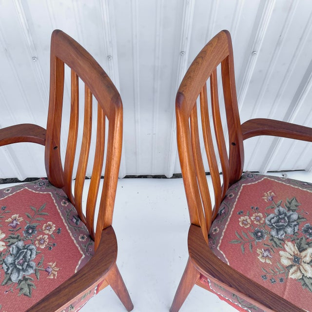 Vintage Modern Teak Arm Chairs- a Pair For Sale - Image 12 of 13