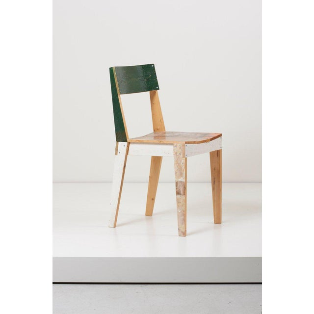 Set of Four Lacquered Oak Chairs in Scrapwood by Piet Hein Eek For Sale - Image 9 of 13