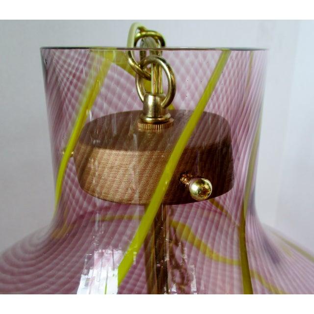 1980s Oversize Italian Glass Pendant For Sale - Image 5 of 7