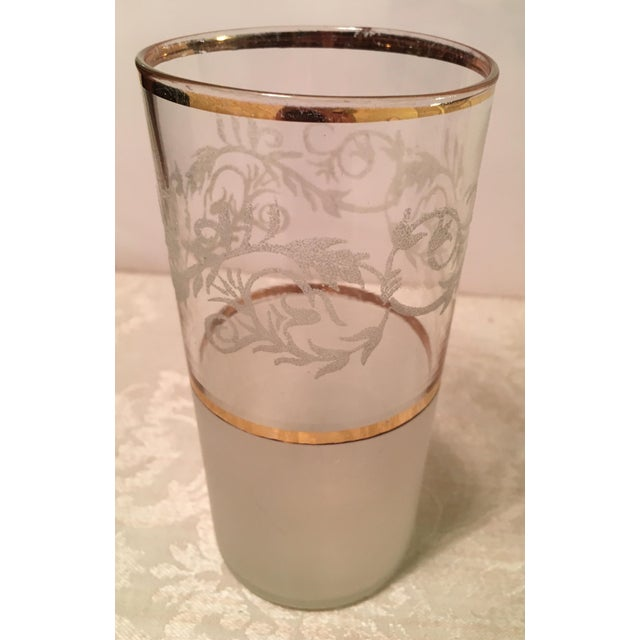 Mid-Century Frosted Highball Glasses - Set of 4 For Sale - Image 4 of 8