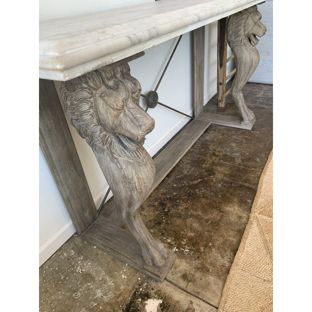 Italian 20th Century Neoclassical Style Marble Console Table For Sale - Image 3 of 7