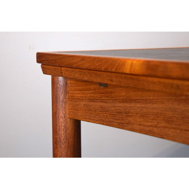 Brown Carlo Jensen Expanding Small Danish Teak Dining Table or Game Table For Sale - Image 8 of 13
