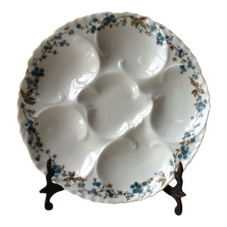 Late 19th Century Antique French Porcelain Oyster Plate For Sale