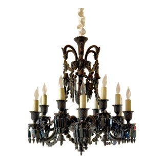 Philippe Starck Baccarat Crystal Zenith 12 Light Chandelier For Sale
