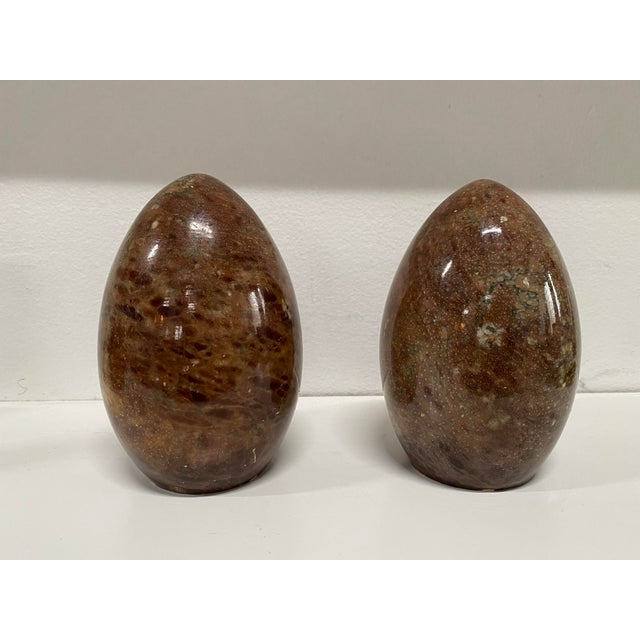 Vintage Italian Marble Egg Bookends - a Pair For Sale - Image 12 of 12