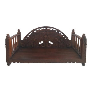 Anglo Indian Floral Carved Swing