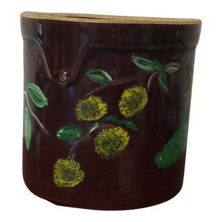 Vintage Hand Painted Crock For Sale