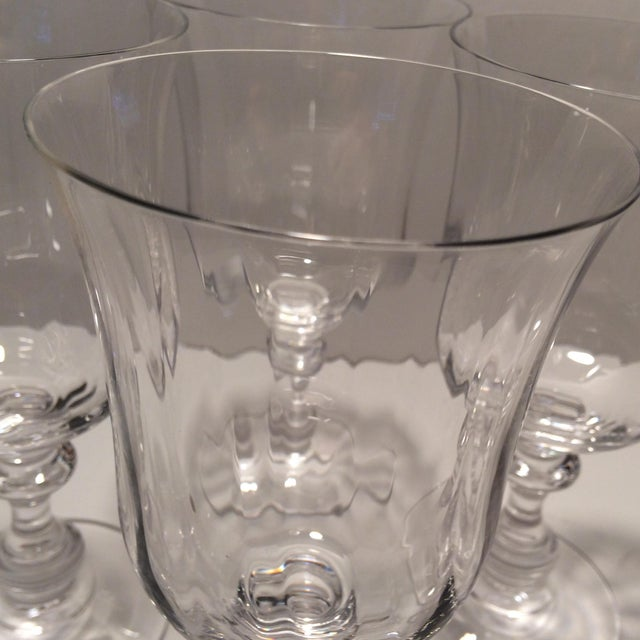 "Vintage Crystal Mikasa ""French Country"" Water Goblets - S/4 - Image 10 of 11"