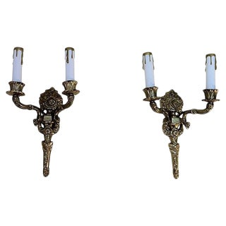 Gustavian-Style Torch Sconces - A Pair