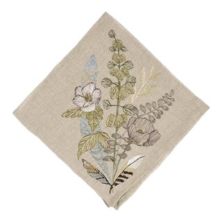 Contemporary Linen Poppy Dinner Napkin