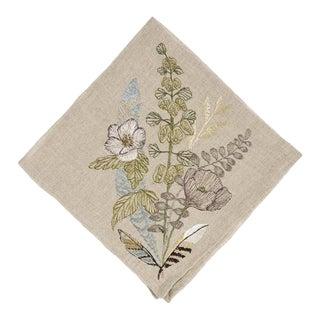 Contemporary Linen Poppy Dinner Napkin For Sale