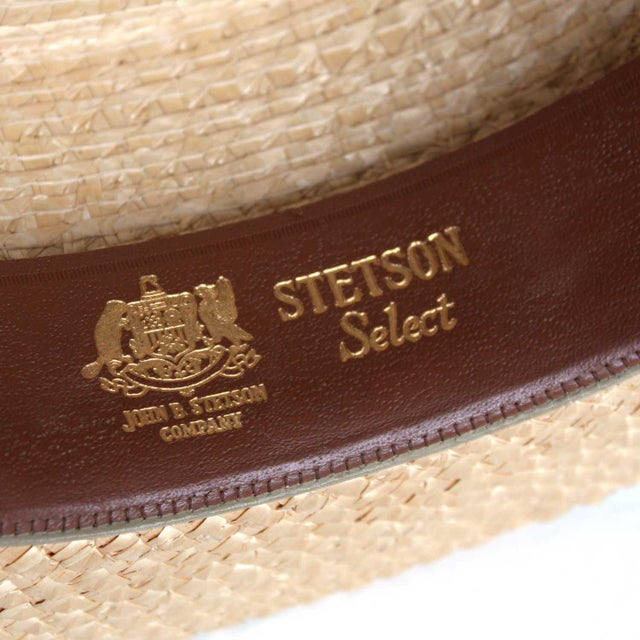 4e87d58b0bc94 Straw Stetson Select Boater Hat For Sale - Image 7 of 8