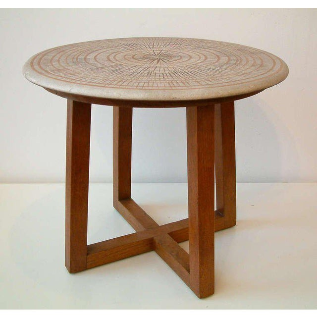 Design Technics Ceramic and Walnut Table For Sale In Richmond - Image 6 of 8