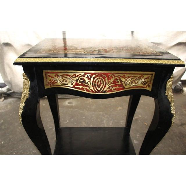 Art Nouveau 19th Century Art Noveau Boulle Occasional Tables - a Pair For Sale - Image 3 of 10