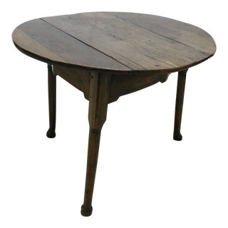 1900s Traditional Round Cricket Table For Sale