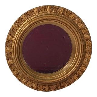Vintage Gilded Wood Frame Mirror For Sale