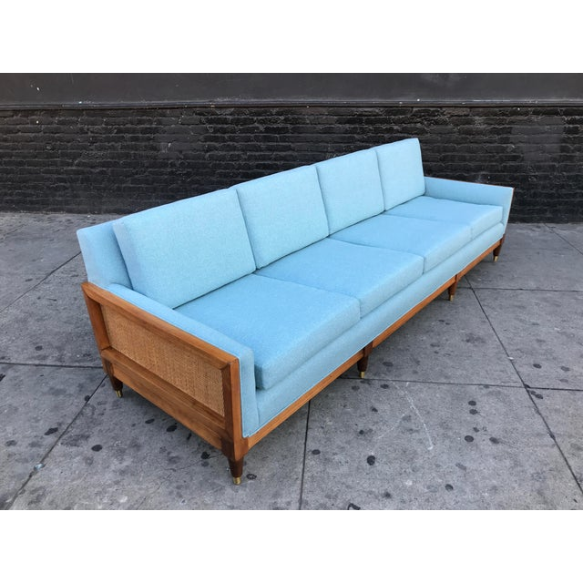 Vintage Mid Century Long Sofa For Sale - Image 4 of 13