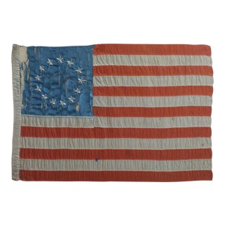 19th Century Antique 13 Stars Us Flag -Betsy Ross -Circa 1876