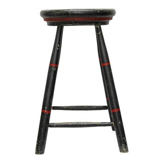 Vintage Painted Stool For Sale