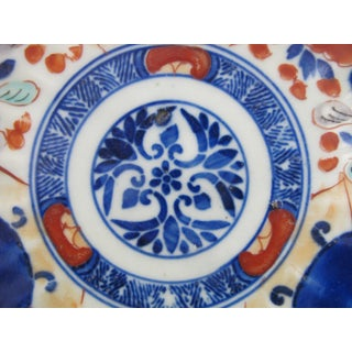 Early 20th Century Japanese Hand Painted Imari Scalloped Plate Shallow Bowl Preview