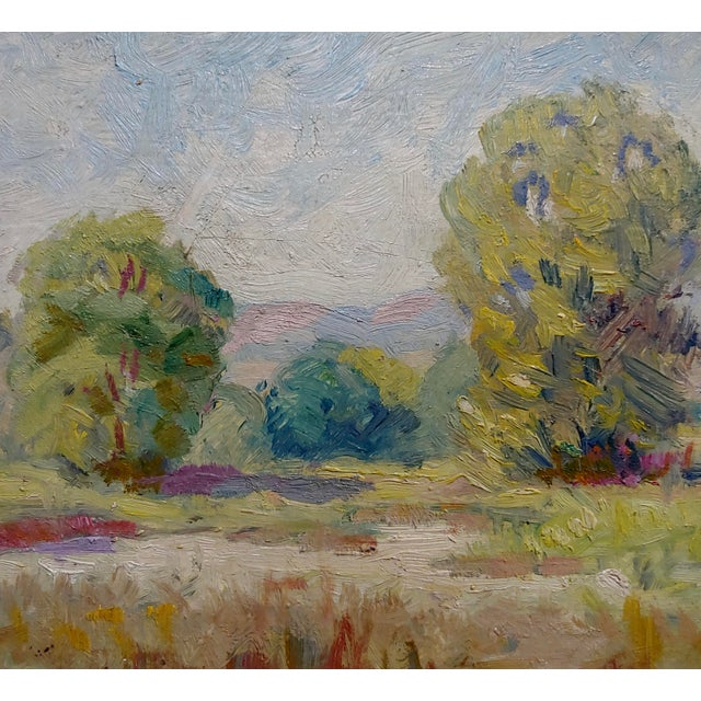 Maurice Braun - Study of a California Landscape -Oil Painting For Sale - Image 4 of 8