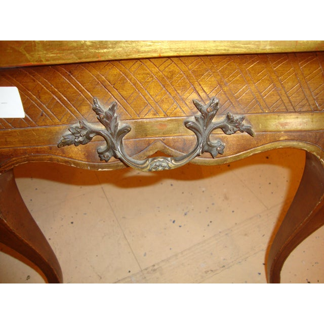 Hollywood Regency Style Jansen Gilt Gold Coffee Table For Sale - Image 5 of 6