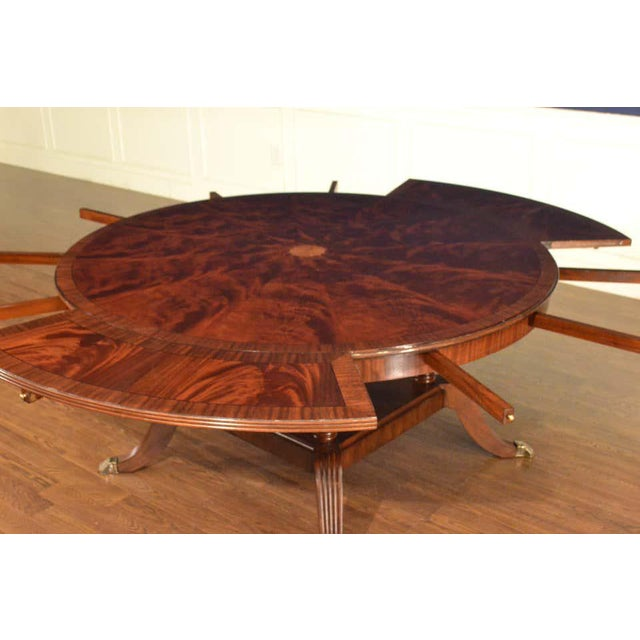 Leighton Hall Custom Traditional Round Perimeter Leaf Dining Table Chairish