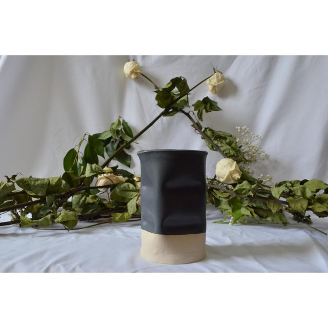 Indented Small Black Vase Chairish