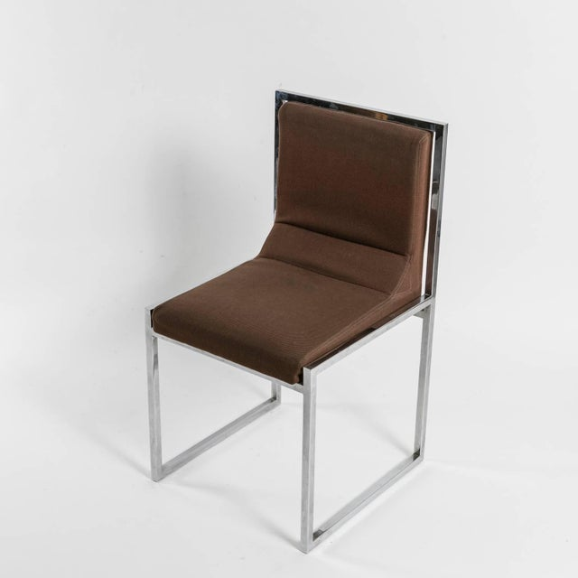 """Hard to find set of six """"Wright/Wright"""" chairs by Nanda Vigo for Driade. Straight pure squared frame hosts the original..."""