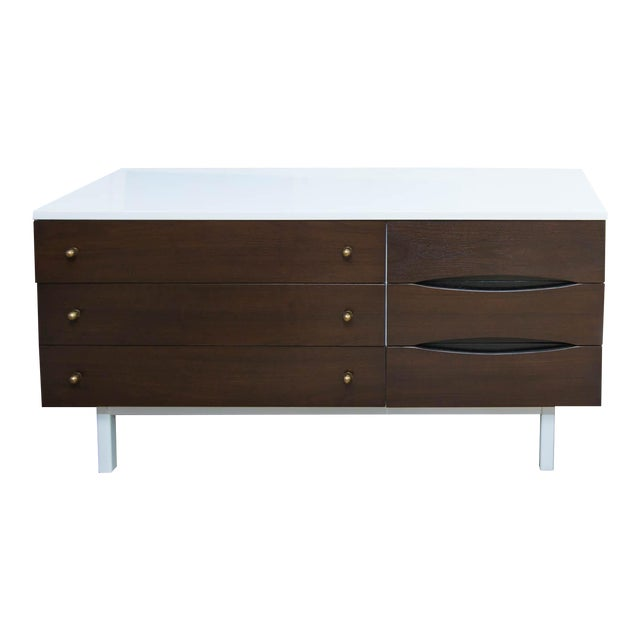 Stanley Furniture Mid-Century Modern Lacquered Low Dresser For Sale