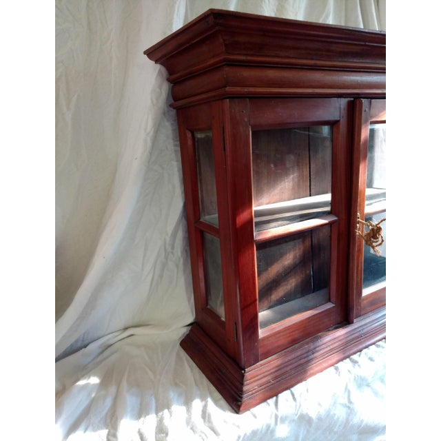 1920s Hand Carved Rosewood Table Top Cabinet For Sale - Image 4 of 8