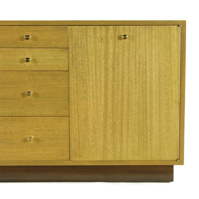 Harvey Probber Bleached Ribbon Mahogany Long Cabinet For Sale In Chicago - Image 6 of 9