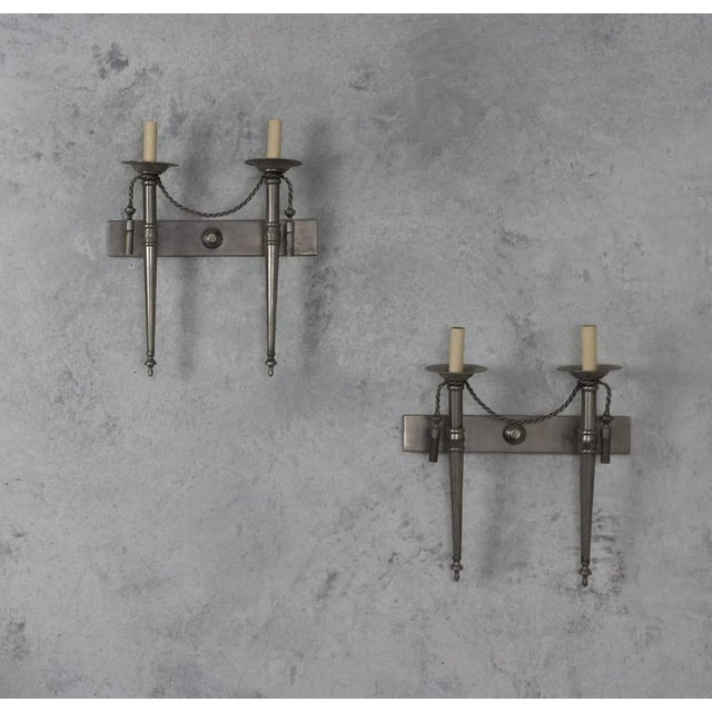 Pair of Nickel-Plated Sconces - Image 10 of 11