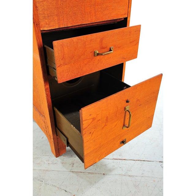 1930s Vintage Oak File Cabinet -2 Drawer - Image 5 of 9