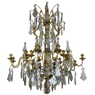 Large Chandelier by Baccarat of Paris For Sale