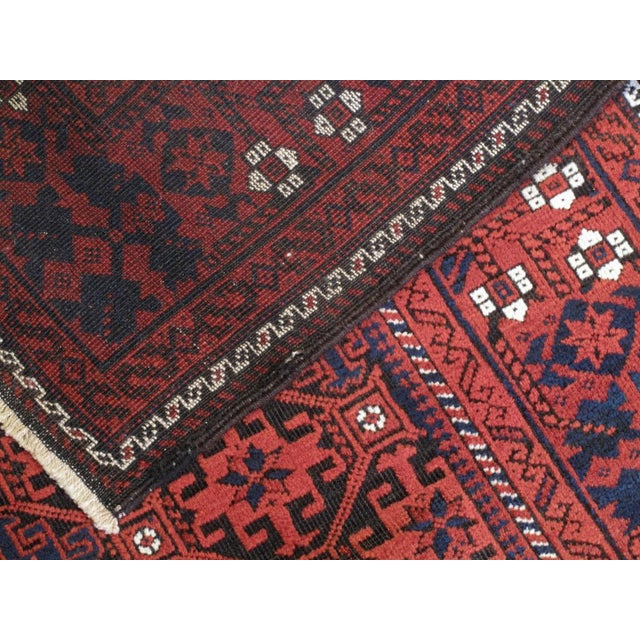 Red Antique Baluch Rug For Sale - Image 8 of 8