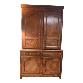 18th Century Antique Solid Walnut French Armoire For Sale