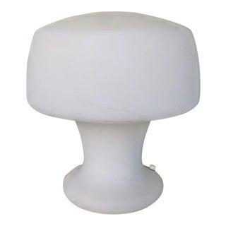 1970s Laurel Biomorphic Glass Helmet Mushroom Lamp