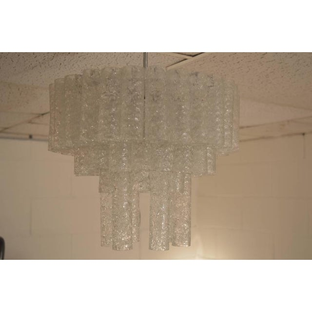 Glass Doria Chandelier in Three Layers For Sale - Image 7 of 9