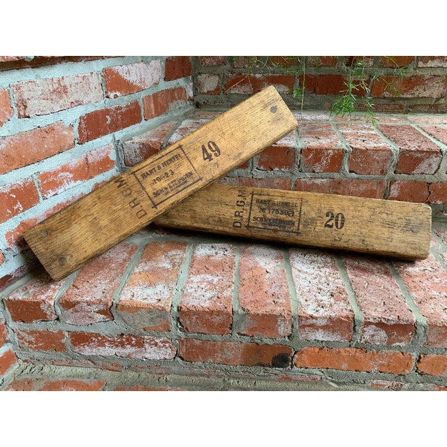 Antique German Wood Cigar Molds - a Pair For Sale - Image 13 of 13