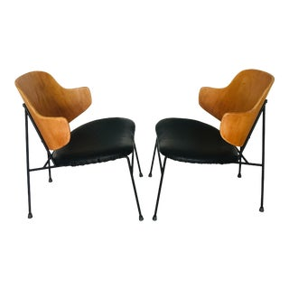 1960s Ib Kofod Larsen Penguin Lounge Chairs - a Pair For Sale