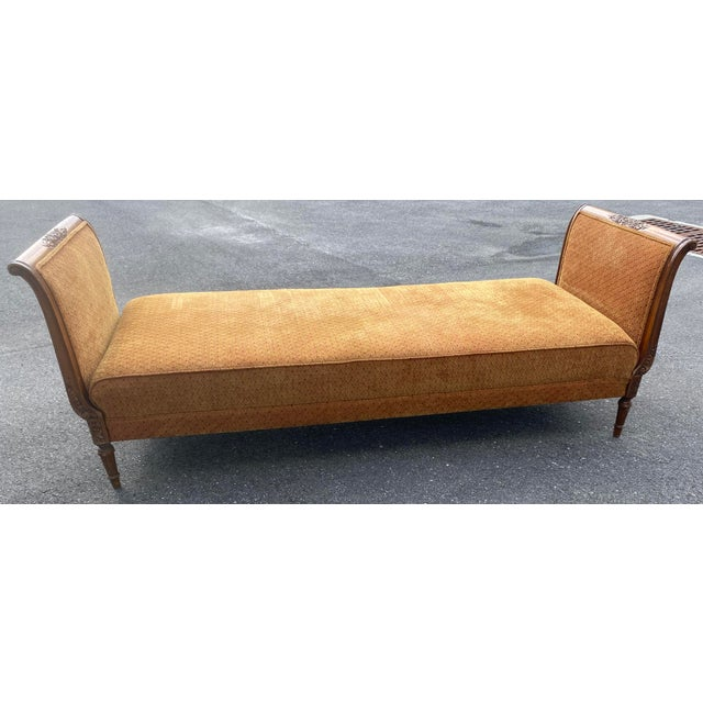 1940s French Walnut Sleigh Daybed For Sale - Image 12 of 12