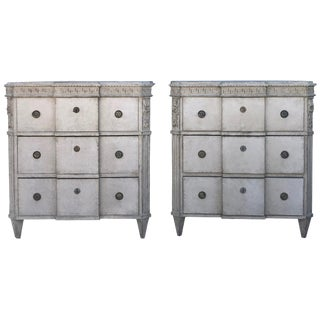 19th Century Neoclassical Swedish Breakfront Chests For Sale