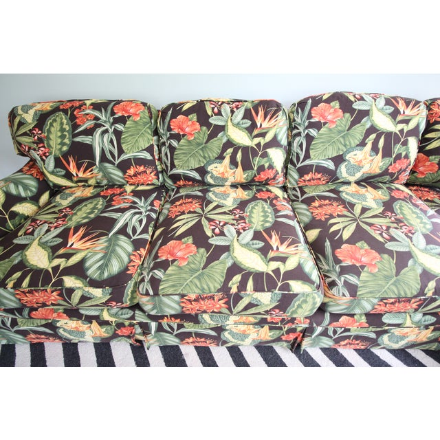 Drexel Heritage Tropical Print Sectional Sofa - Image 4 of 7