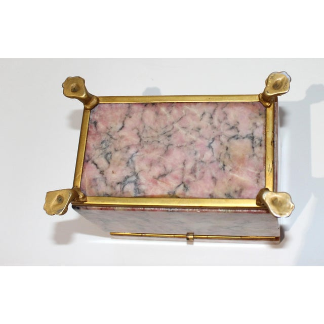 Antique Jewelry Casket With Gold Dore Accent For Sale - Image 9 of 10