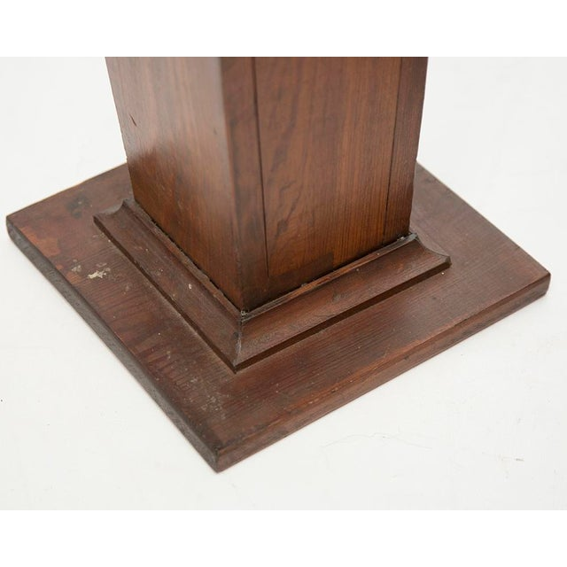 American Classical EARLY 1900'S HAND CARVED WOODEN PEDESTALS For Sale - Image 3 of 7